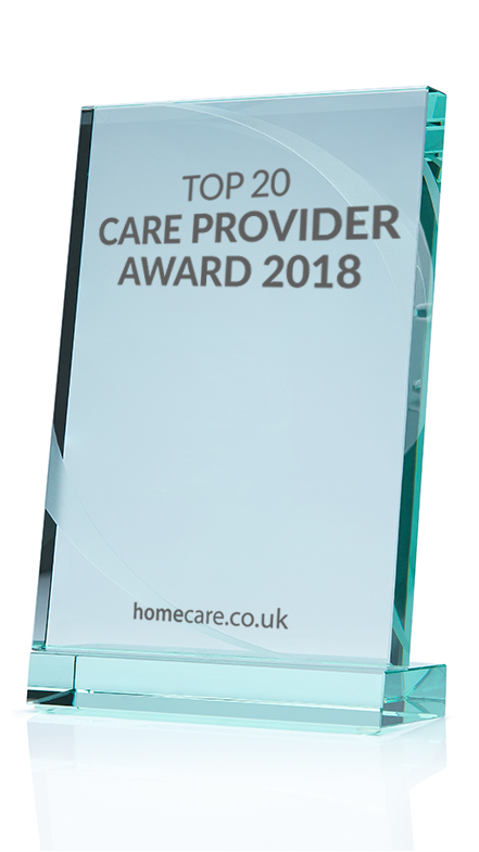 Pure Homecare - Top 20 Care Provider Award 2018 image
