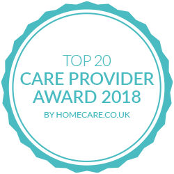 Pure Homecare - Top 20 Care Provider Award 2018 badge image
