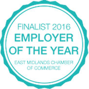 Pure Homecare - Employer of the Year - 2016 Finalist badge image
