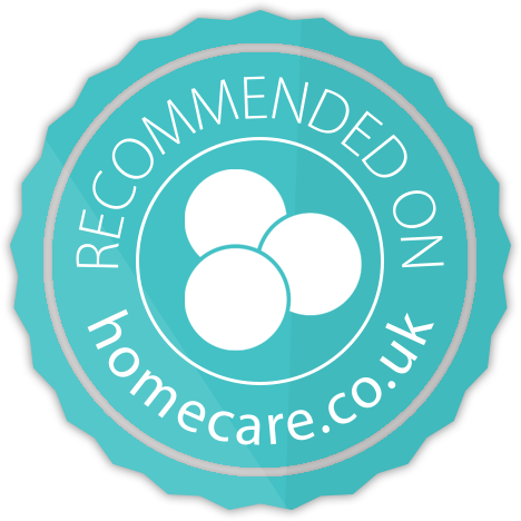 Pure Homecare - recommended on homecare.co.uk badge image